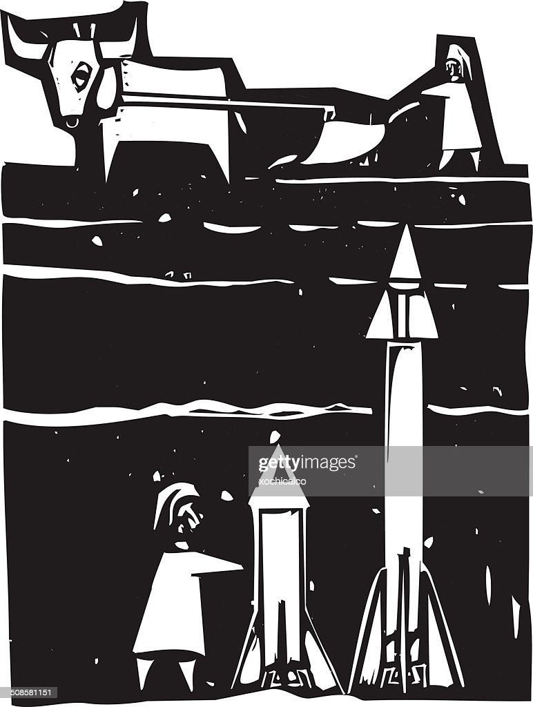 Missiles beneath : Vector Art