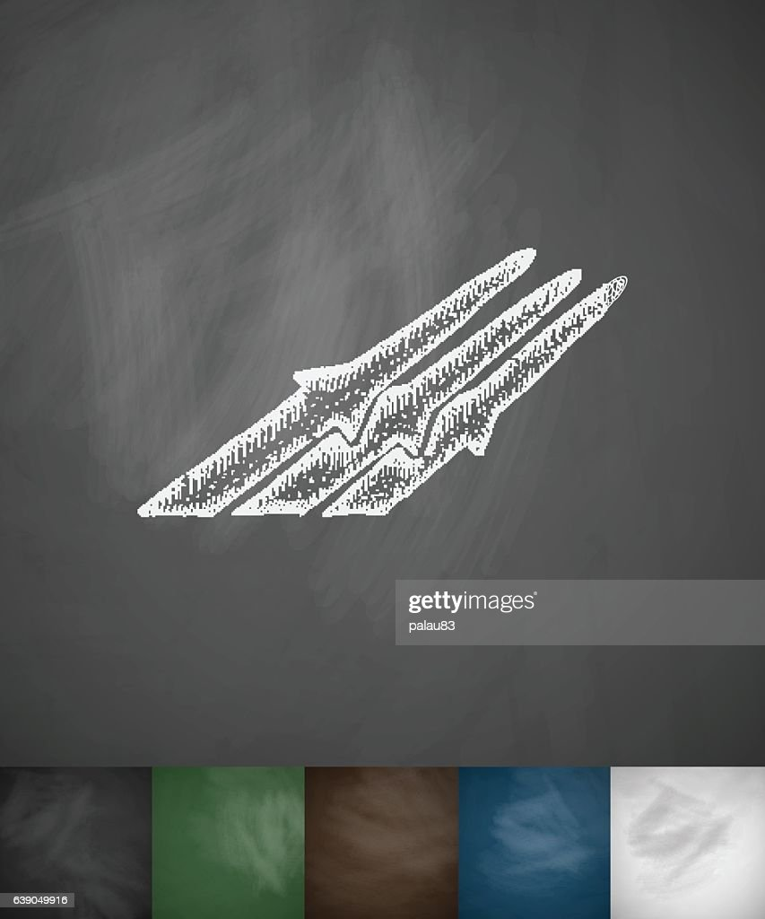 missiles icon. Hand drawn vector illustration