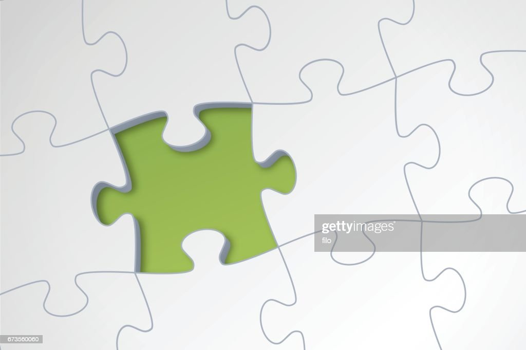 Missing Puzzle Piece Vector Art
