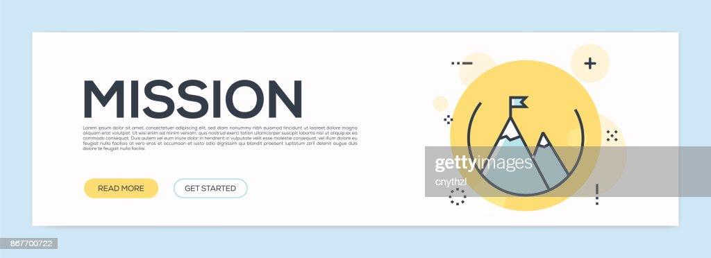 Mission Concept - Flat Line Web Banner