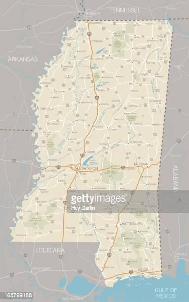 mississippi map - mississippi stock illustrations, clip art, cartoons, & icons