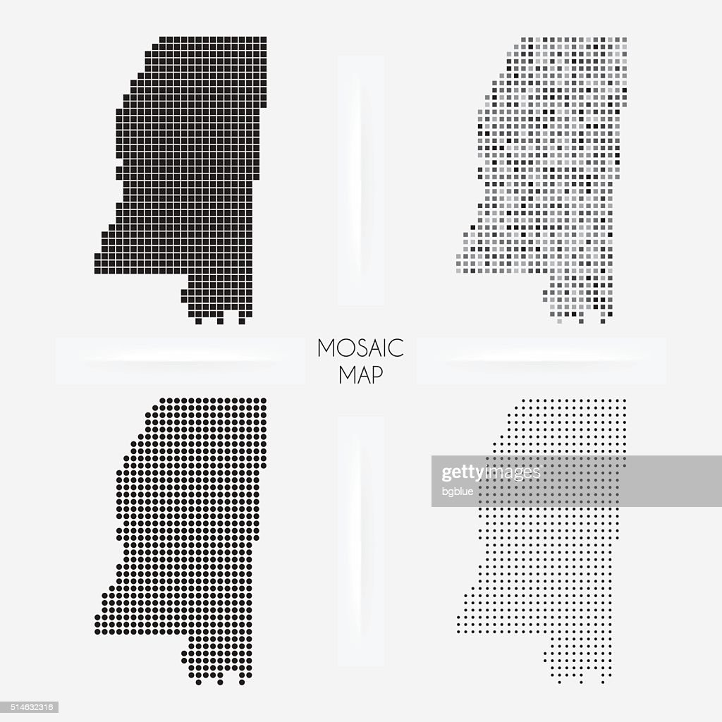 Mississippi maps - Mosaic squarred and dotted