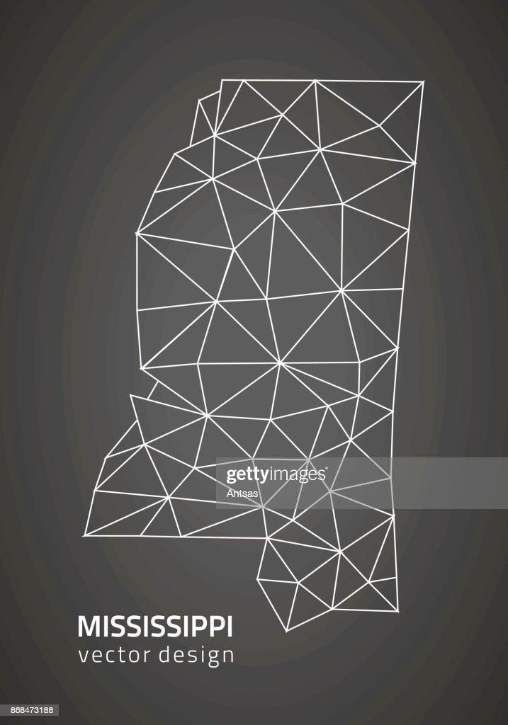 Mississippi outline grey vector map