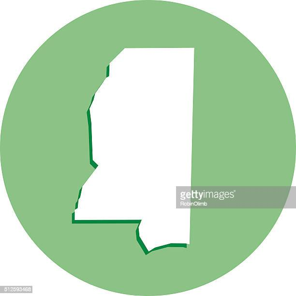 mississippi round map icon - mississippi stock illustrations, clip art, cartoons, & icons