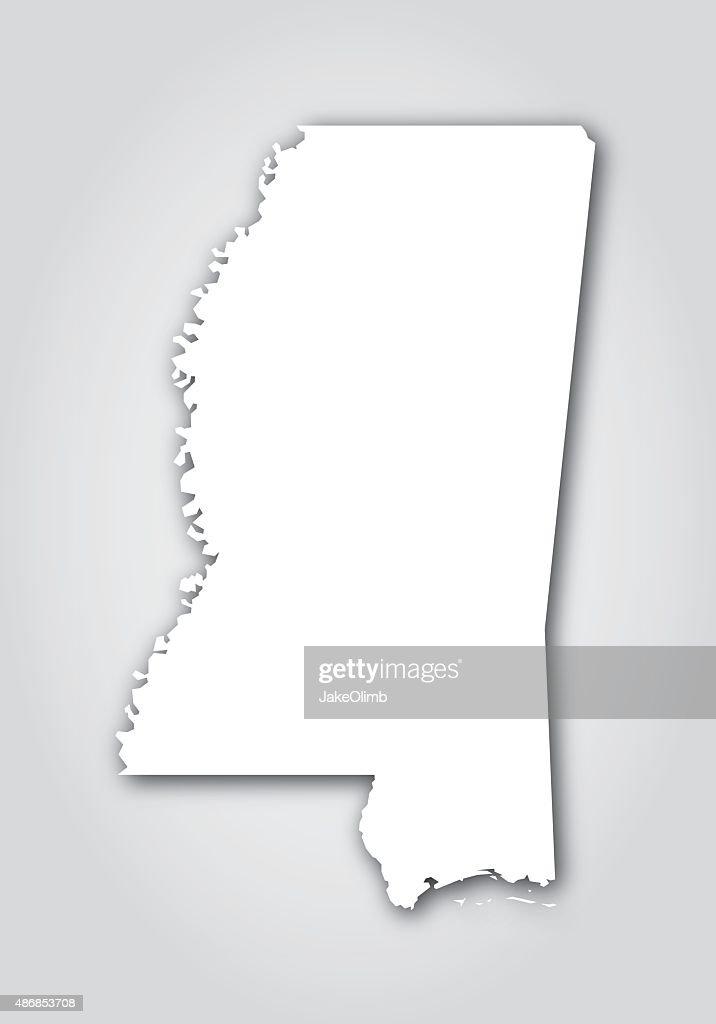 Mississippi Silhouette White