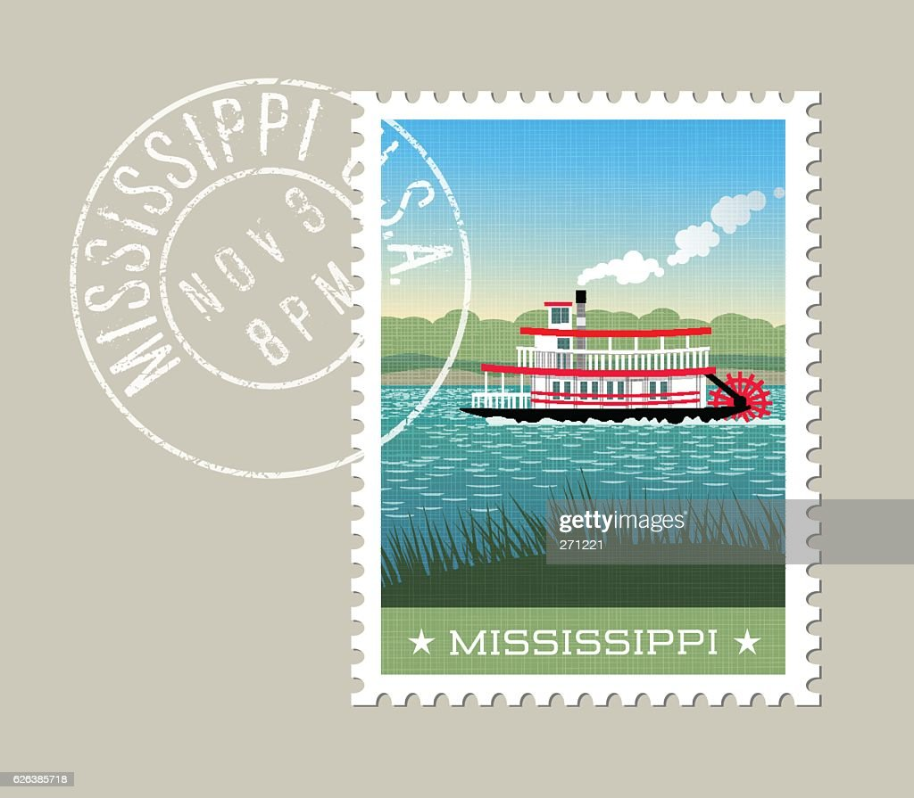 Mississippi steamship paddle boat on the river.
