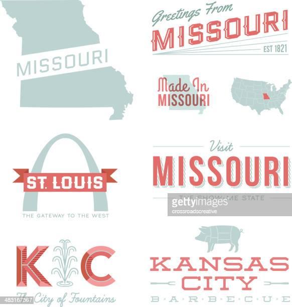 missouri typography - fountain stock illustrations, clip art, cartoons, & icons