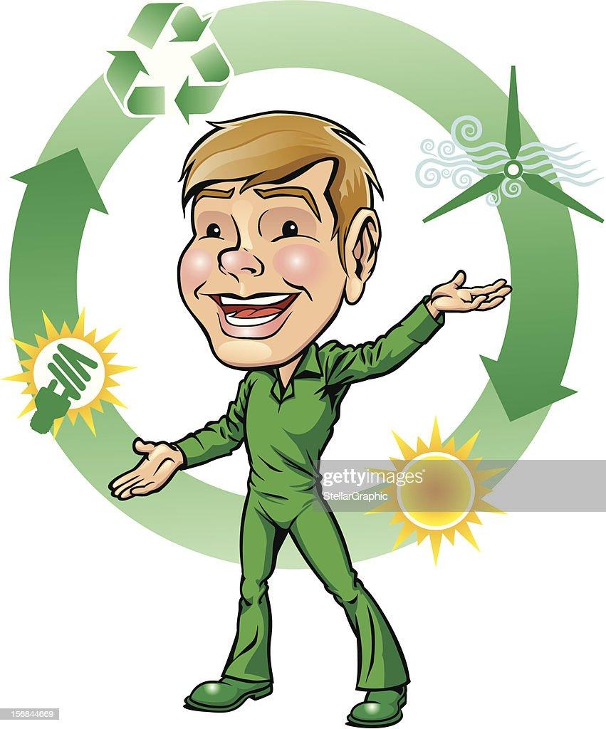 Mister verde : Arte vectorial