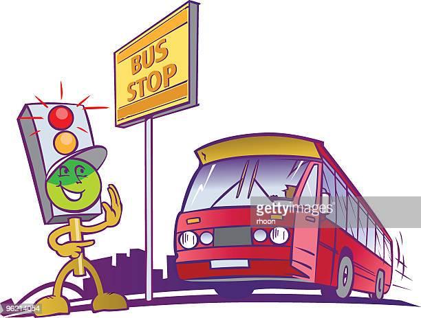 illustrations, cliparts, dessins animés et icônes de mister trafic light3 - abribus