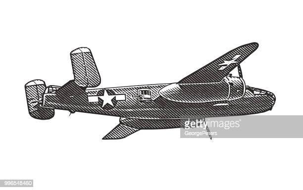WW2 Mitchell B-25 Medium Bomber