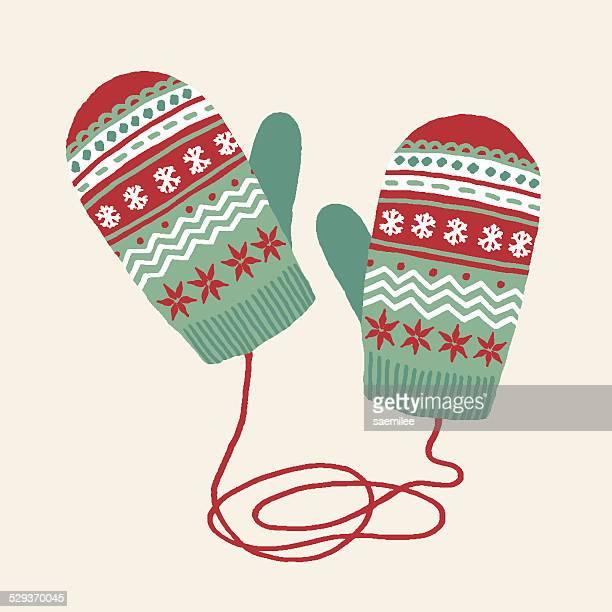 mittens - glove stock illustrations