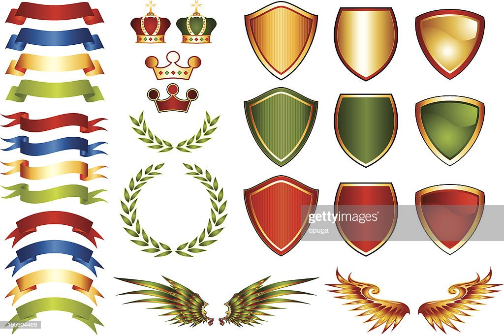 Mix and Match Coat of Arms Logo Icons
