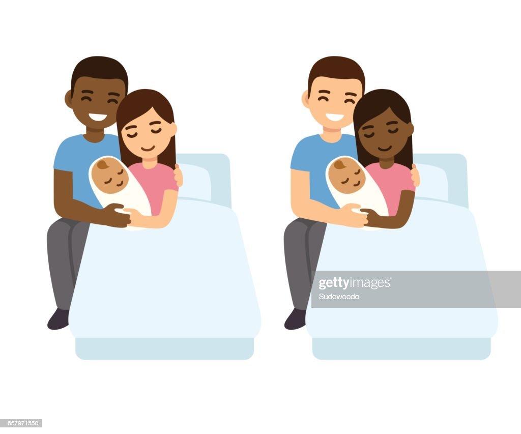 Mixed couples baby birth set