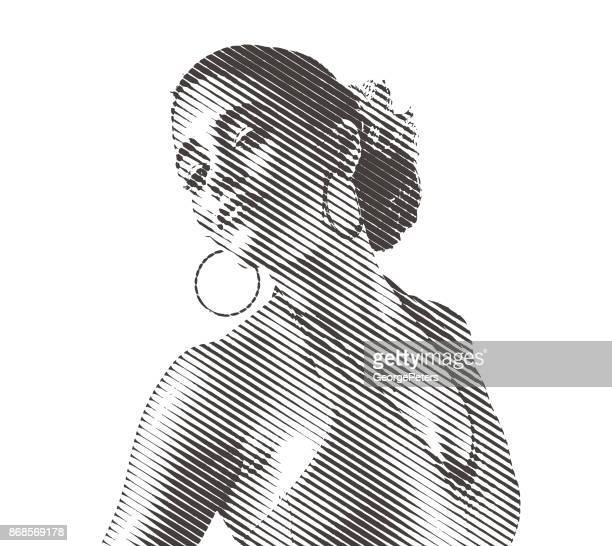 mixed race woman salsa dancing - cuban ethnicity stock illustrations, clip art, cartoons, & icons
