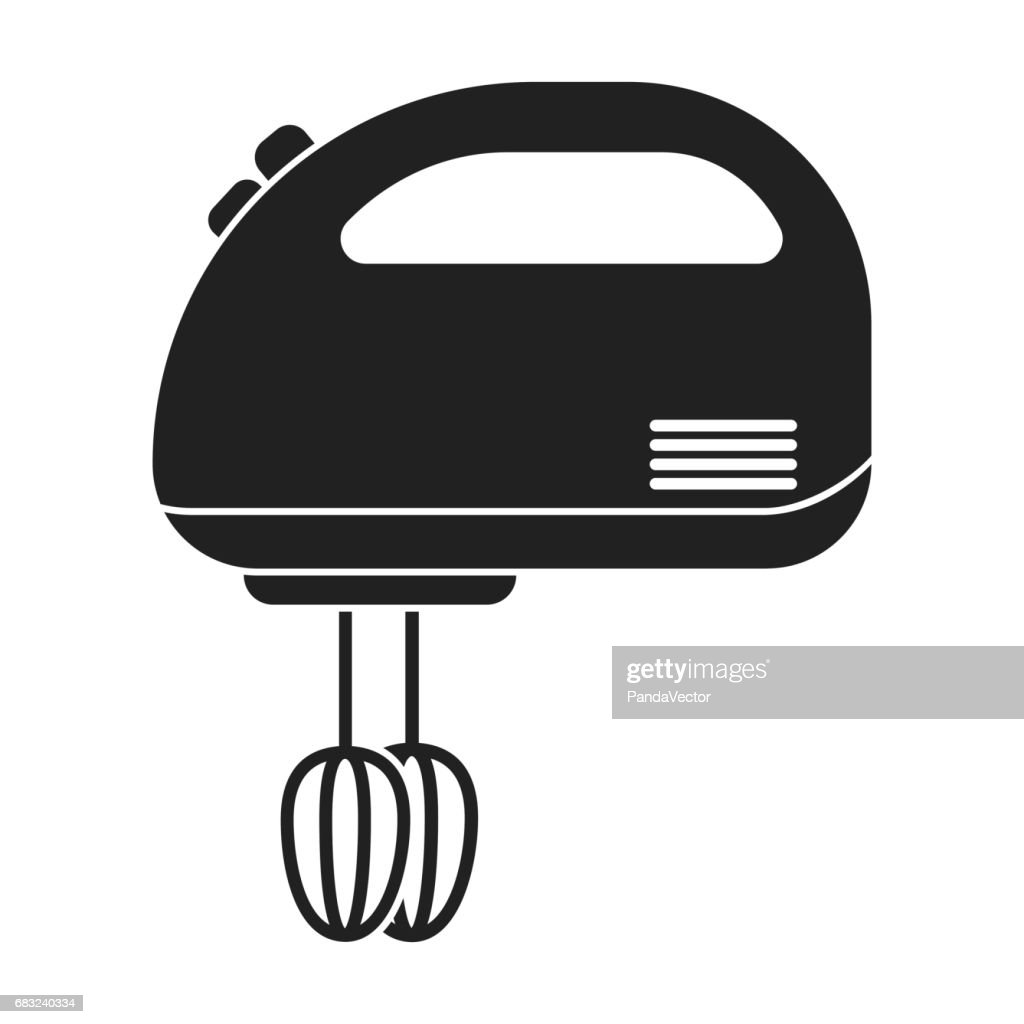 Mixer icon in black style isolated on white background. Household appliance symbol stock vector illustration.