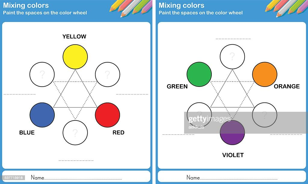 Mixing Color Paint The Color Vector Art Getty Images