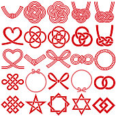 mizuhiki and Japanese family crests.