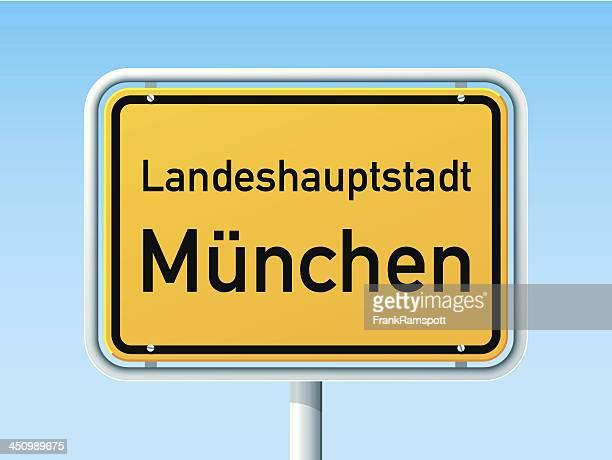 München German City Road Sign