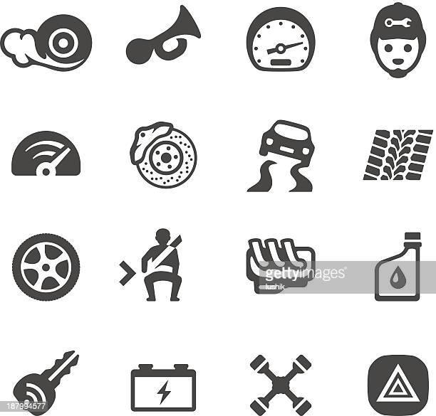 ilustrações, clipart, desenhos animados e ícones de mobico ícones-auto parts - skidding