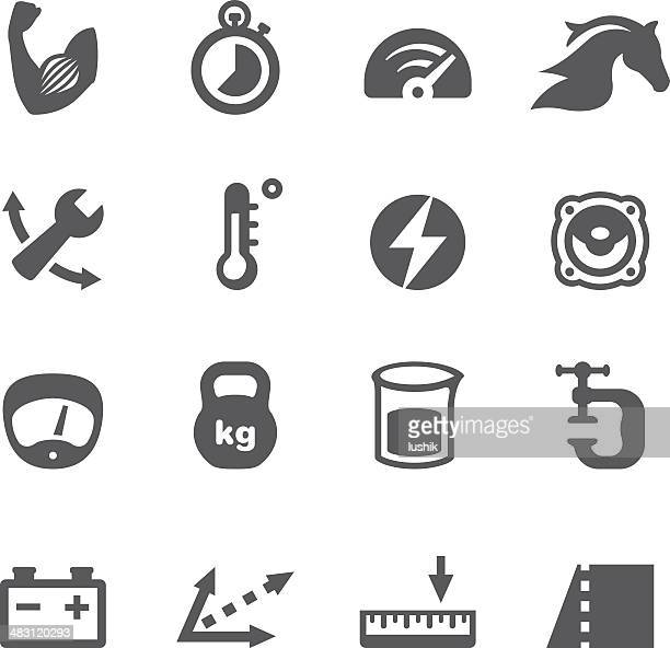 mobico icons - convert units - meter unit of length stock illustrations