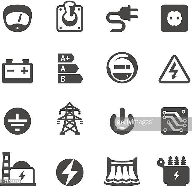 mobico icons - electricity - electricity stock illustrations, clip art, cartoons, & icons