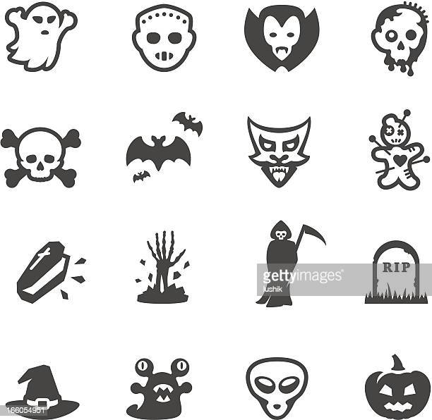 mobico icons - fear and horror - murderer stock illustrations