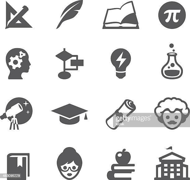 mobico icons - higher education - professor stock illustrations, clip art, cartoons, & icons