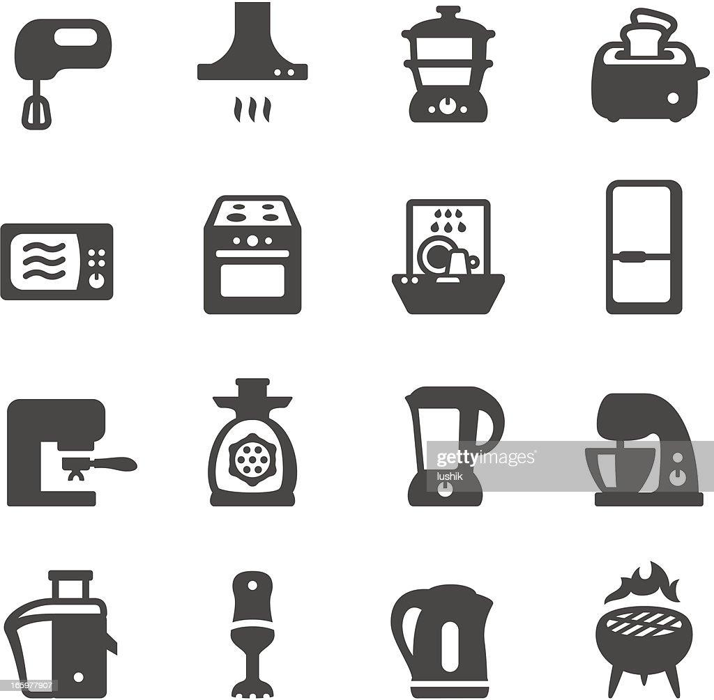 Mobico icons - Kitchen appliances : stock illustration