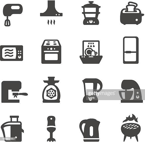 mobico icons - kitchen appliances - exhaust fan stock illustrations, clip art, cartoons, & icons