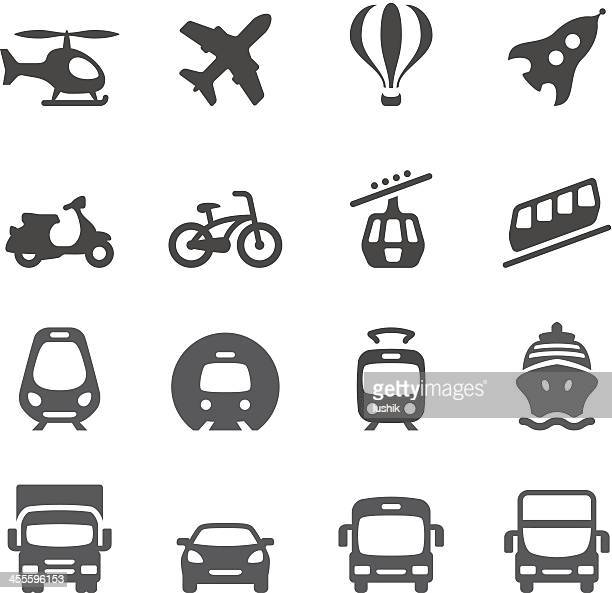 stockillustraties, clipart, cartoons en iconen met mobico icons — mode of transport - tram