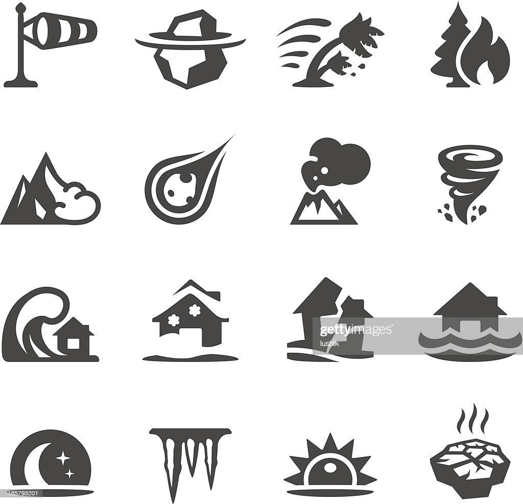 Mobico icons - Natural Disaster : stock illustration