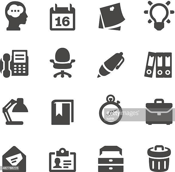 mobico icons — office work - post it stock illustrations, clip art, cartoons, & icons
