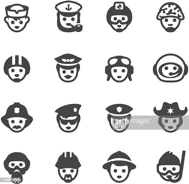 ilustraciones, imágenes clip art, dibujos animados e iconos de stock de mobico iconos-profesional profesiones - piloto de coches de carrera
