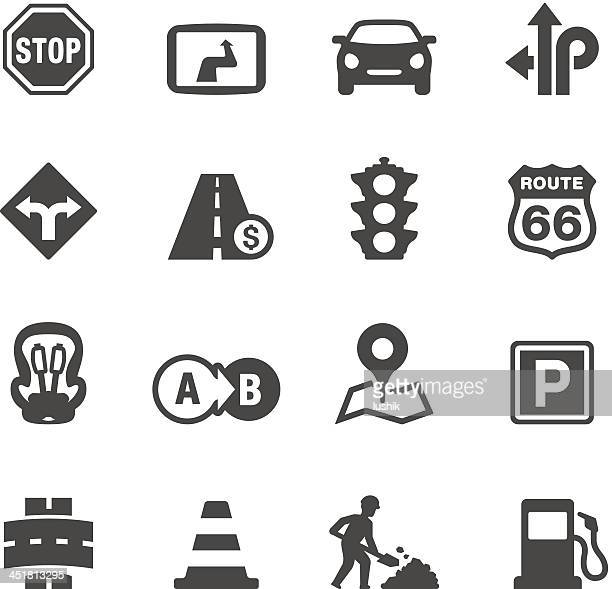 mobico icons - road trip - parking sign stock illustrations