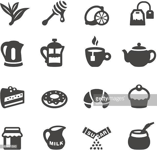 mobico icons - tea - sugar food stock illustrations, clip art, cartoons, & icons