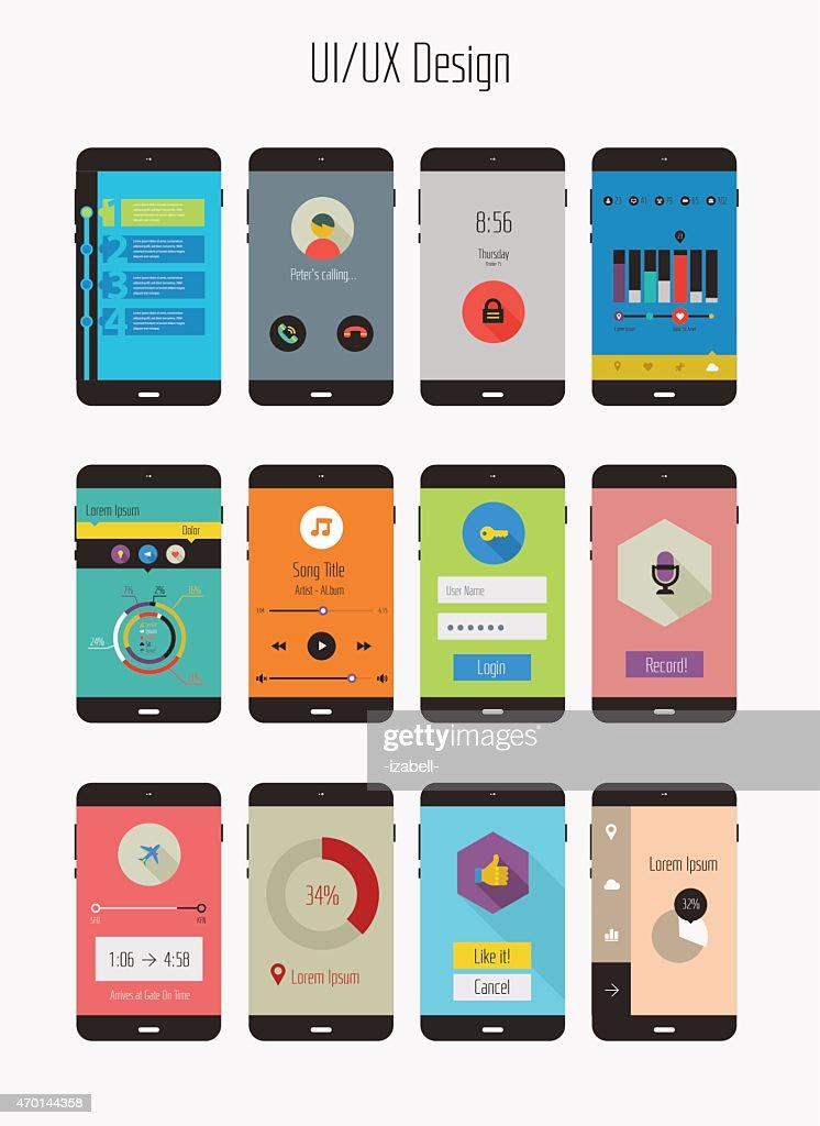 Mobile app kits in the UI/UX Design