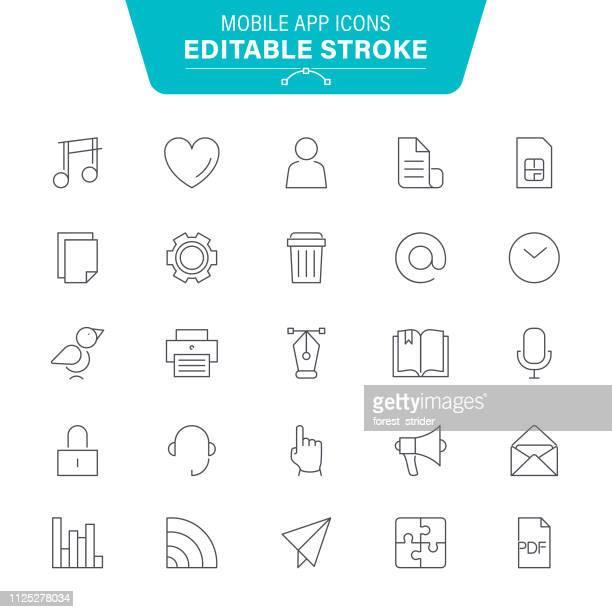ilustraciones, imágenes clip art, dibujos animados e iconos de stock de iconos de aplicaciones móviles - sistema operativo