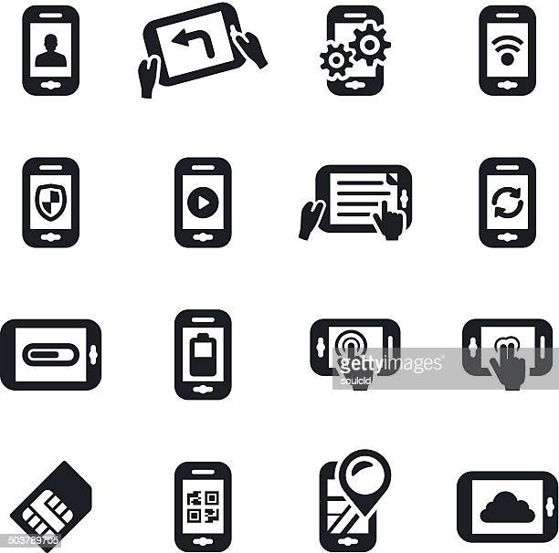 Mobile Apps and Functions Icons