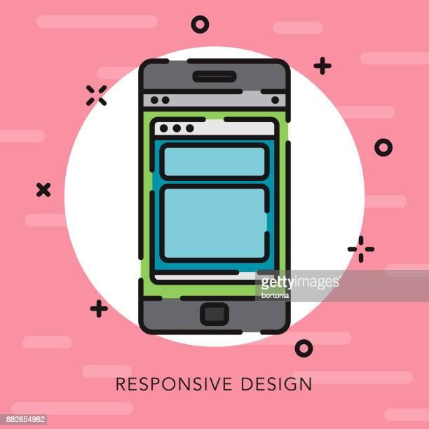 illustrations, cliparts, dessins animés et icônes de mobile apps open contour design graphique icône - graphiste