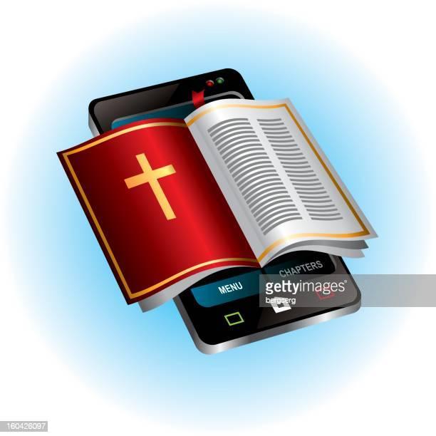 mobile bible - free bible image stock illustrations