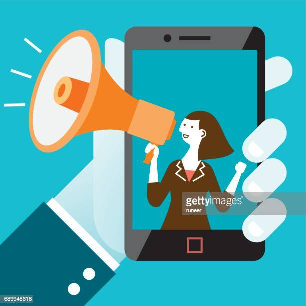 Mobile Business Shout-Out   Neue Business-Konzept