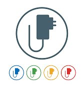 Mobile charger flat Icon Isolated on White Background.vector illustration icon