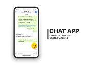 Mobile Chat App Vector Mockup
