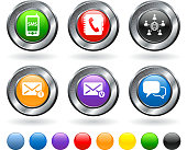mobile communication royalty free vector icon set