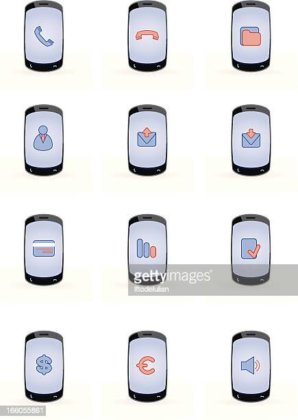 stockillustraties, clipart, cartoons en iconen met mobile concept set - e mail