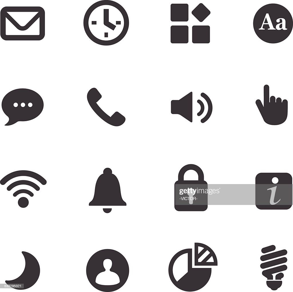 Mobile control Icons - Acme Series : stock illustration