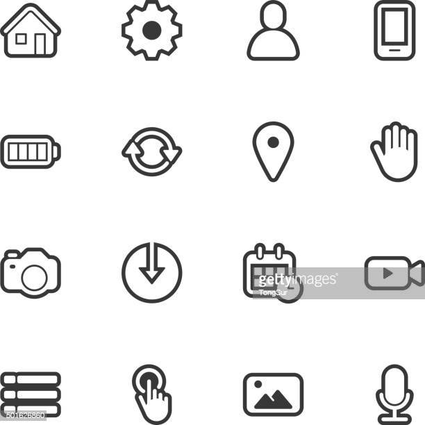 Mobile control icons - Regular Outline