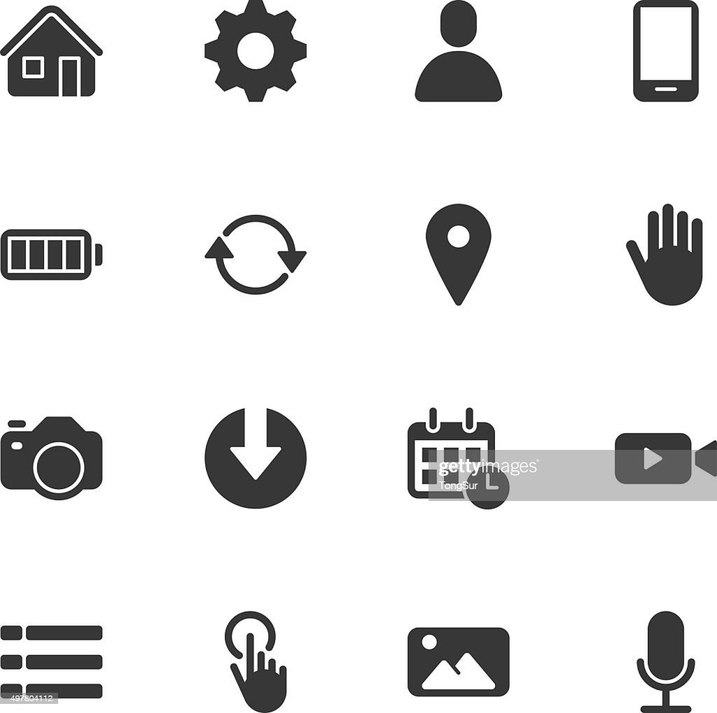 Mobile control icons - Regular