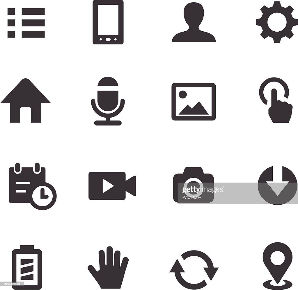 Mobile control Icons Set - Acme Series