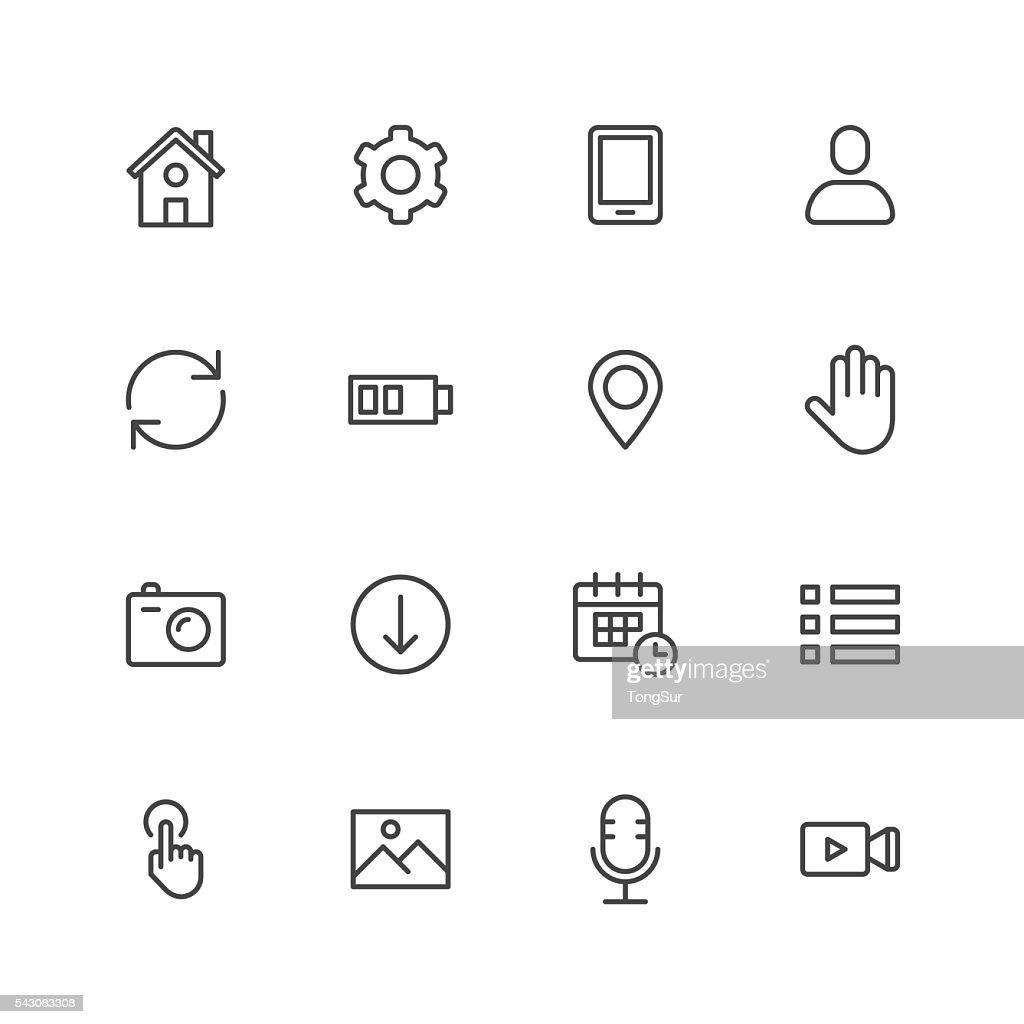 モバイルコントロールのアイコン : ストックイラストレーション